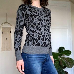 Leopard Print 💯% Merino Wool Sweater by Halogen